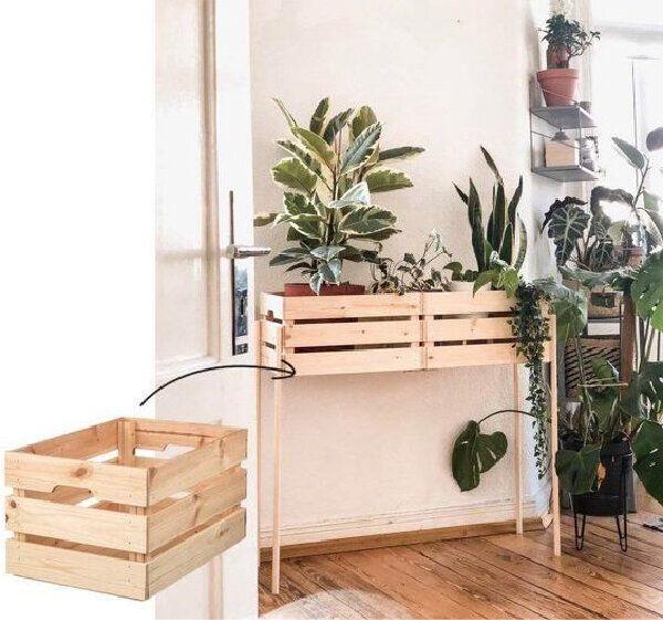Pin By Larissa Van Der Ende On Interer I Dekor Svoimi Rukami In 2020 Ikea Boxes Ikea Diy Diy Plant Stand