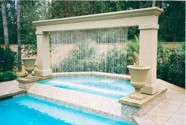 Contemporary Outdoor Water Fountain Ideas In Outdoor Swimming