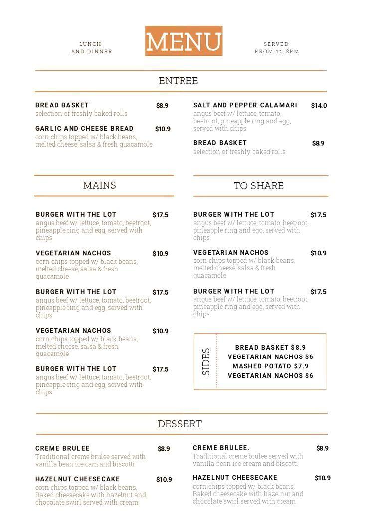 1 Menu Template 10 Ways Hack Your Visual Design Series Menus Menutemplate Menu Hospitality Me In 2020 Menu Design Template Breakfast Menu Design Menu Restaurant