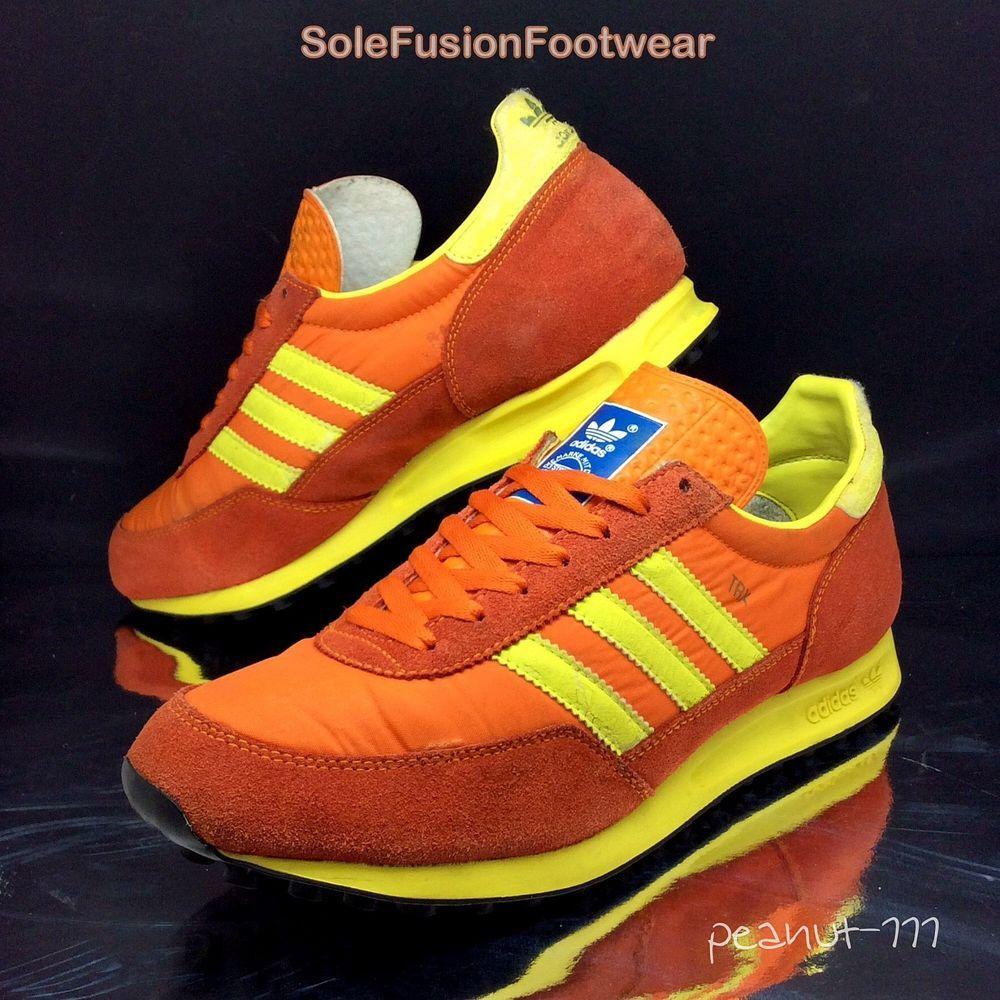 8be79c85424c9 adidas Originals Mens TRX Trainers Orange sz 10 Rare VTG Sneakers US 10.5  44 2 3