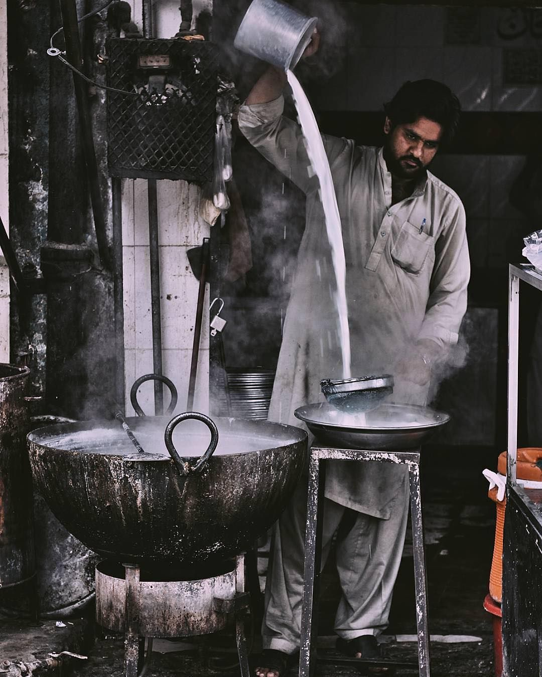 A #local vendor at a #milk shop in Lahore. Photo submitted by @