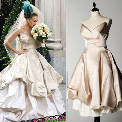 I Won T Apologize For Loving The Dress And The Dead Peacock On Her Head Carrie Bradshaw Wedding Dress Vivienne Westwood Wedding Dress Vivienne Westwood Wedding