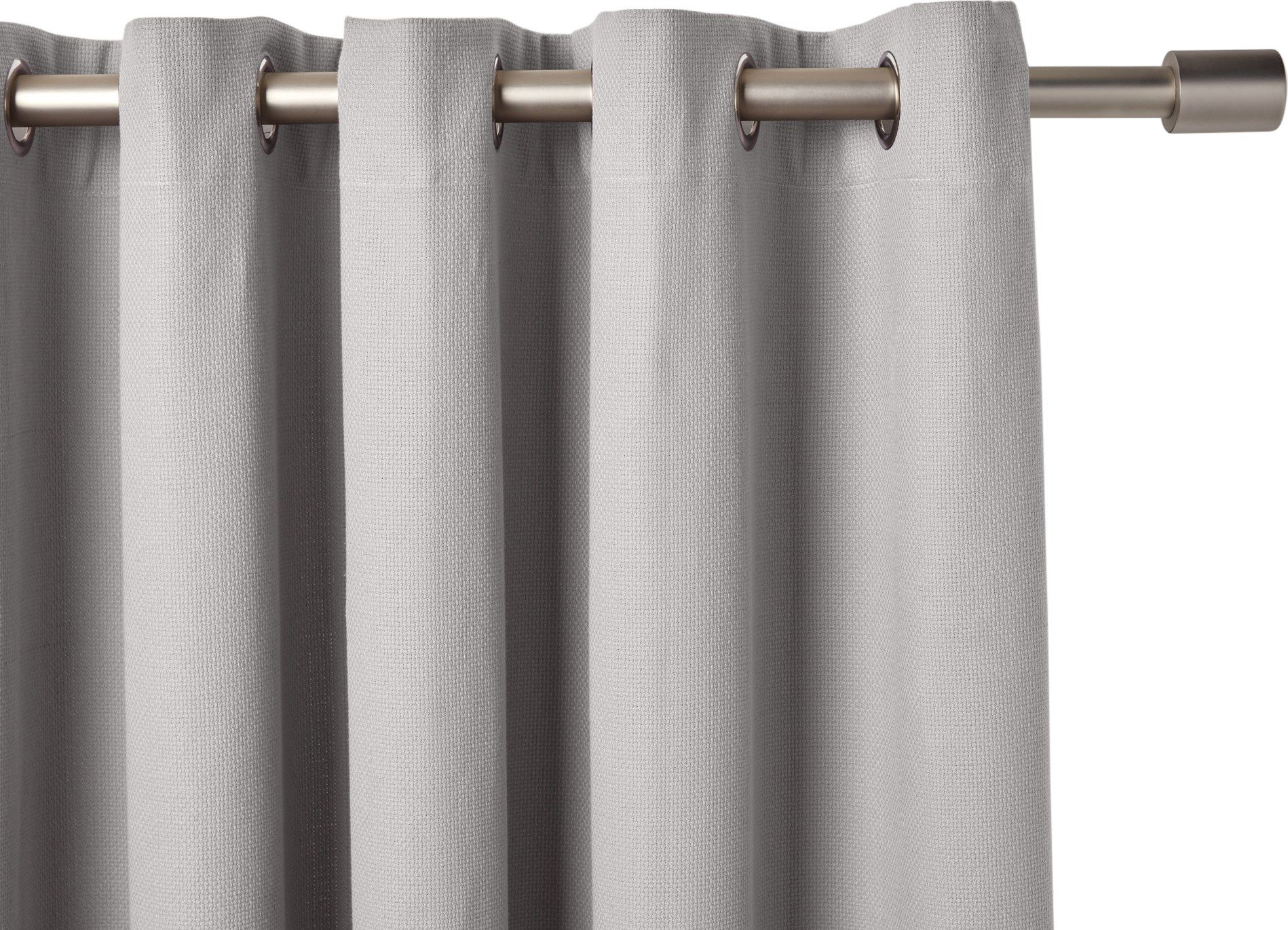 Solar eyelet pair of curtains sky grey x cm from made