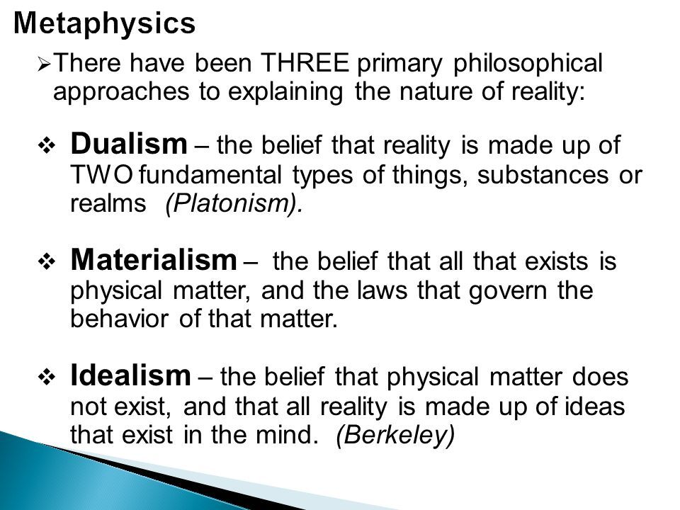 Image Result For Types Of Metaphysics Metaphysics Materialism
