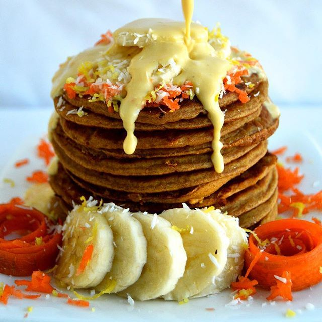 Spiced Carrot Cake Pancakes via @feedfeed on https://thefeedfeed.com/pancakes/wholesomeslice/spiced-carrot-cake-pancakes