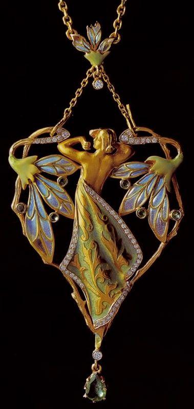 Lalique Art Nouveau Pendant Art Nouveau Jewelry Art