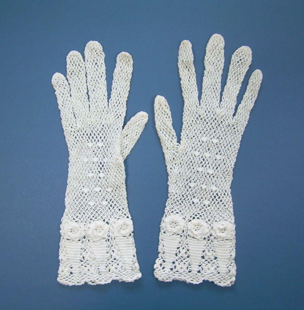 Antique Victorian Edwardian White Crochet Irish Lace Bridal Wedding ...