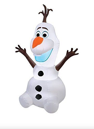 Airblown 55 Ft Disney Frozen Olaf Christmas Inflatable Light-Up - inflatable christmas yard decorations