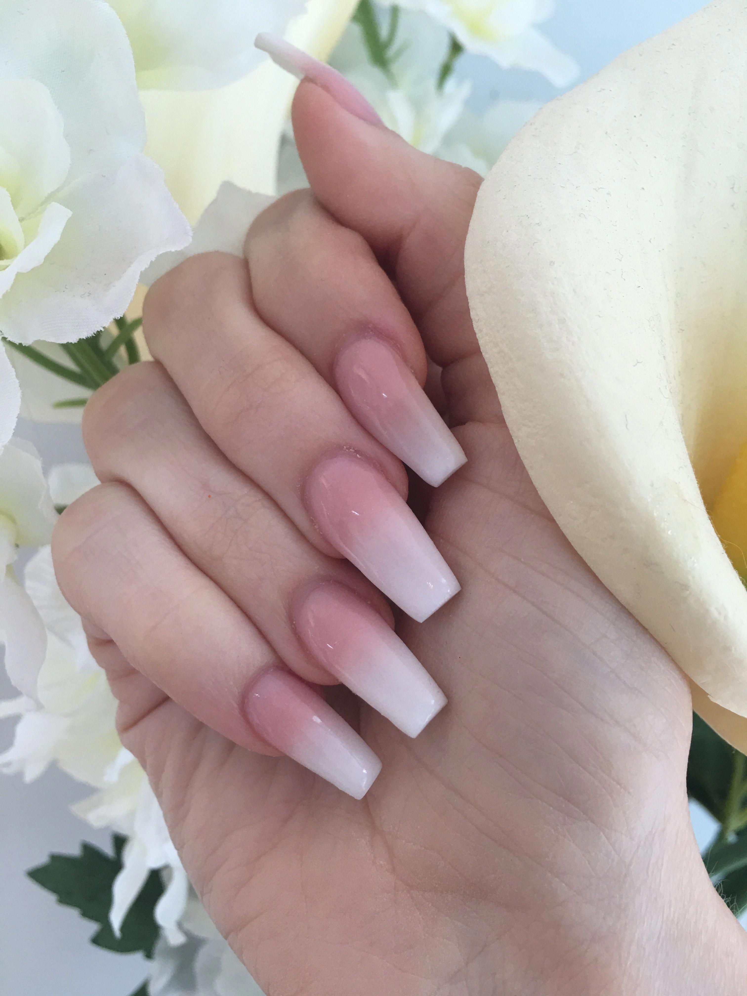 Faded French Nails Purple Frenchnailtipsclassy French Fade Nails French Nails Faded Nails