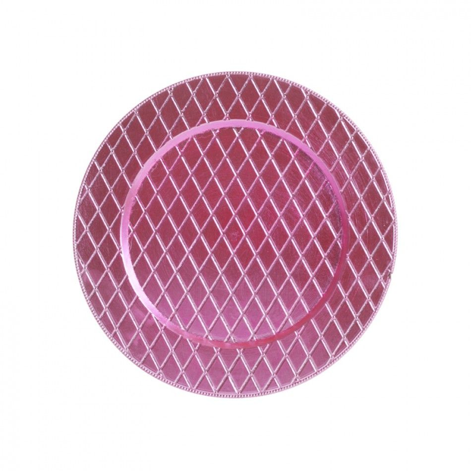 Light Pink Couture Charger Plates BULK (24 Plates) [402641 Lt Pink ...