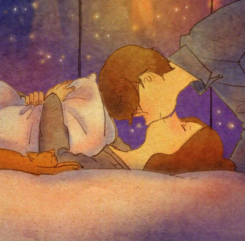 перед сном поцелуй картинки вам каким