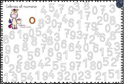 Fichas Para Trabajar Los Numeros Del 0 Al 9 1 Fichas Imagenes Educativas Actividades De Vocabulario