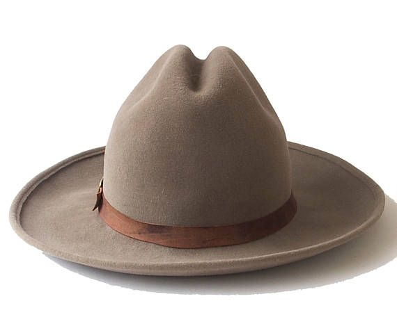 eb2014f2a5f70 Womens Cowboy Hat Western Hat Ranchers Hat Mens Cowboy Hat Winter Accessory  Felt Cowboy Hat Winter Hat Stetson Hat Cowgirl Hat Custom Hat Light brown  Cowboy ...