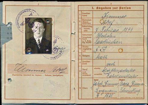 Soldbuch Oberfeldwebel Adolf Zimmer