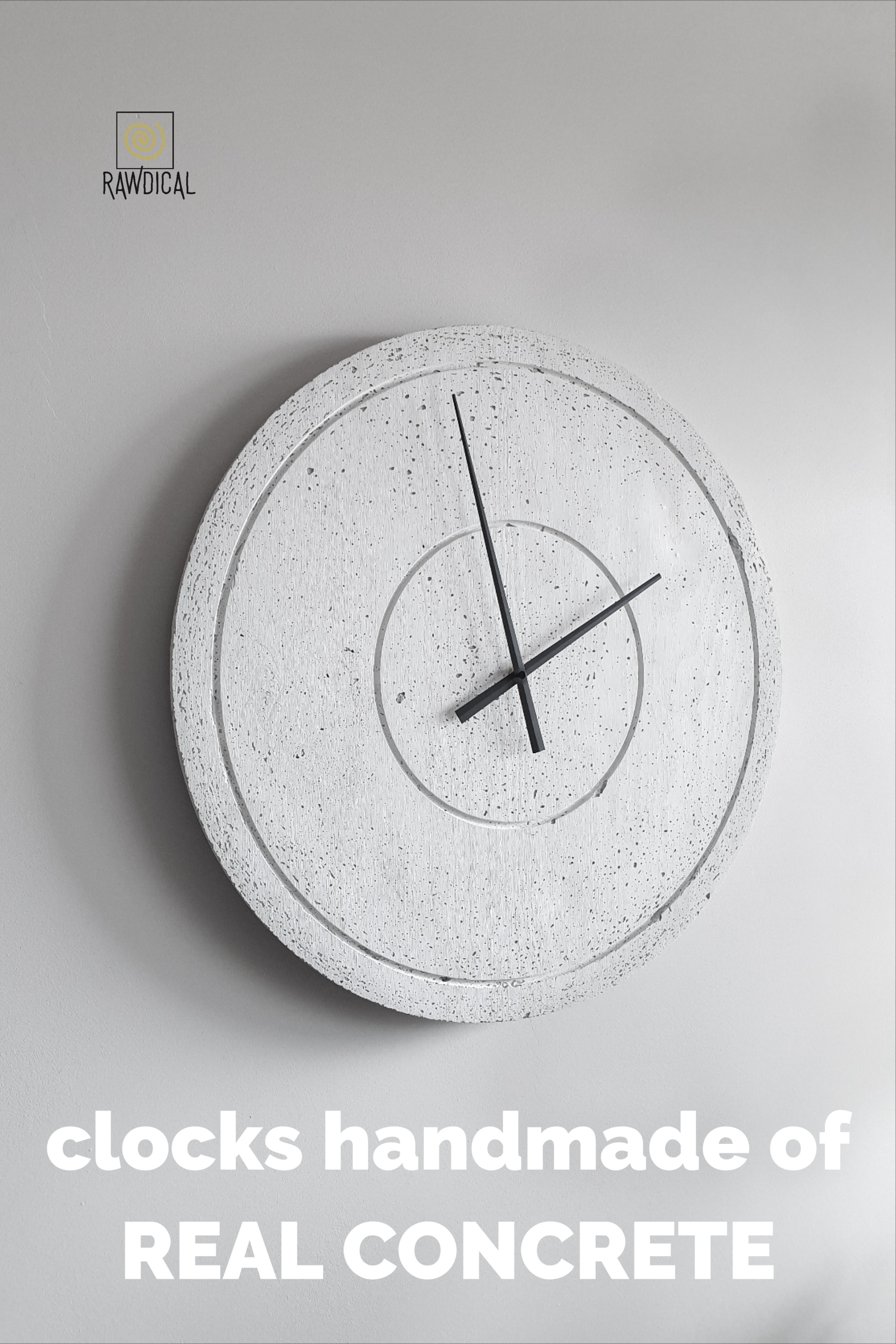 Irregular texture, color and pores – this is the true beauty of concrete. And we fell in love with that, because in controlled imperfection we see the excellence. #rawdical #concreteclock #clock #wallclock #homedecorideas #livingroomideas #livingroomdecor #moderninteriordesign #minimalistdecor #moderndesign #walldecor #concretedesign #industrialdesign