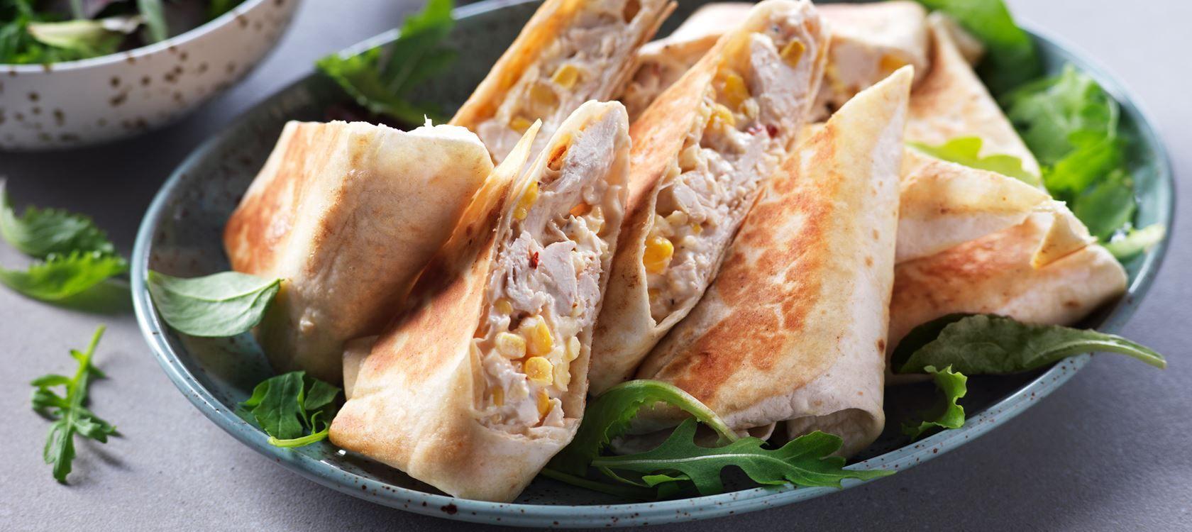 Burrito Med Kyckling Recept Arla Burritos Mat Och Kyckling