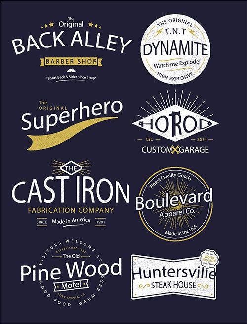 ヴィンテージロゴ素材のプレビュー画像 | DESIGN | Pinterest | Font logo, Logos ...