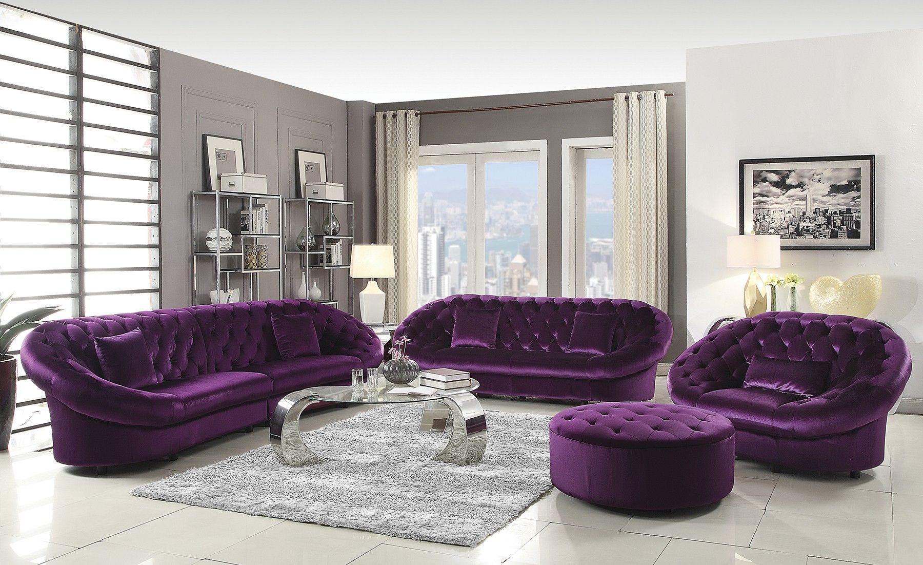 Purple Couch Set Best Collections Of Sofas And Couches