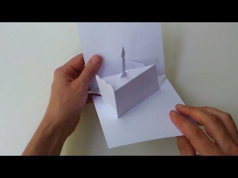 Instructions Blank manual cutting template for Slice of Birthday - birthday cake card template