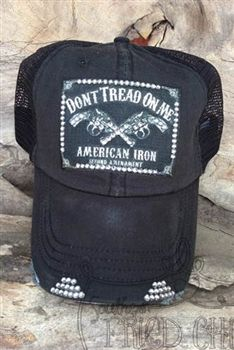 Designer Trucker Hat with Dont Tread on Me patch  0f14164cd