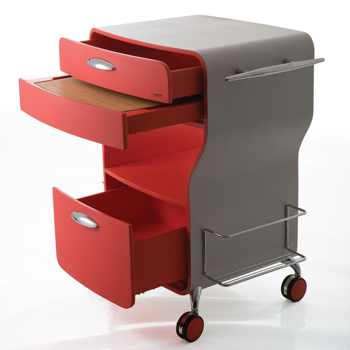 Luca Trazzi Legnoart Trix Kitchen Cart Red 1 075fab 2 387 81 Retail Price Fab