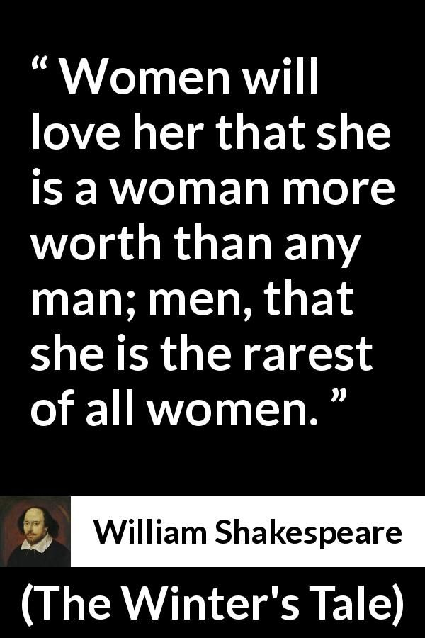 William Shakespeare quote about men from The Winter's Tale (1623