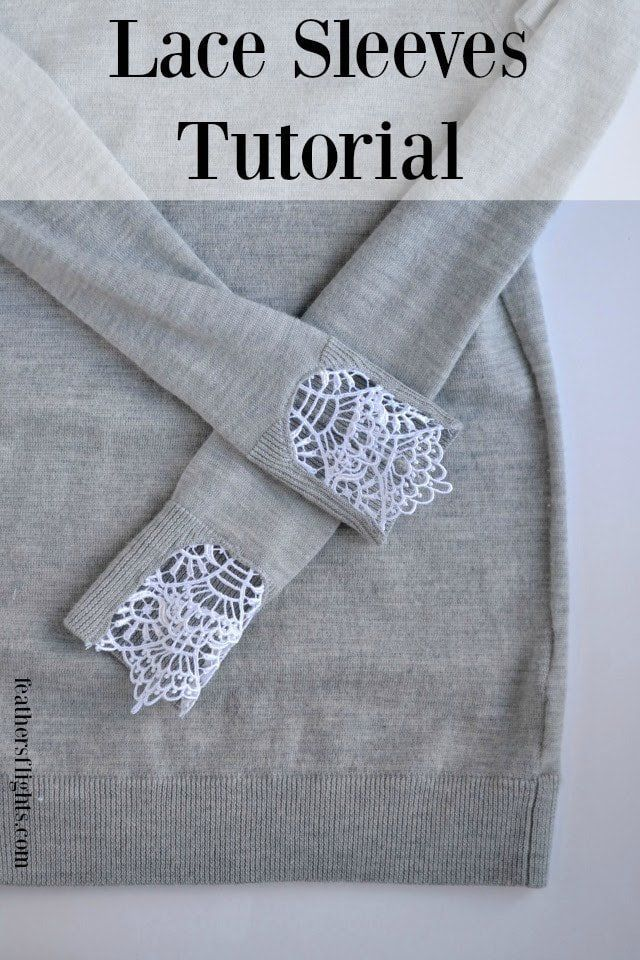 DIY Lace Sweater Tutorial • Heather Handmade