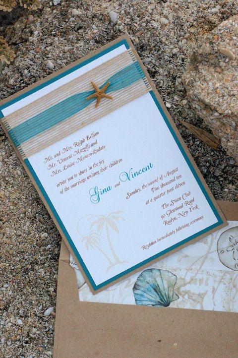 Beach Wedding Invitations Invitaciones De Boda Tarjetas