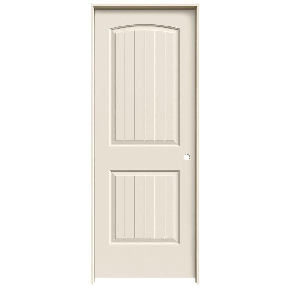 Jeld Wen 32 In X 78 In Santa Fe 2 Panel Arch Top V Groove Hollow