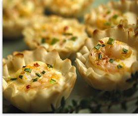 Alouette® Crème de Brie® Shrimp Cups Recipe ~ the orange flavors in this sound delicious