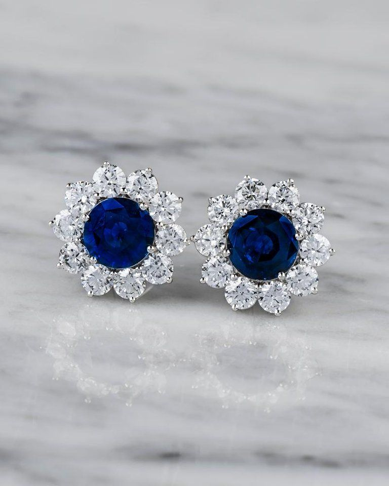 Ladies Victorian Design Sterling 925 Solid Silver White Sapphire Stud Earrings