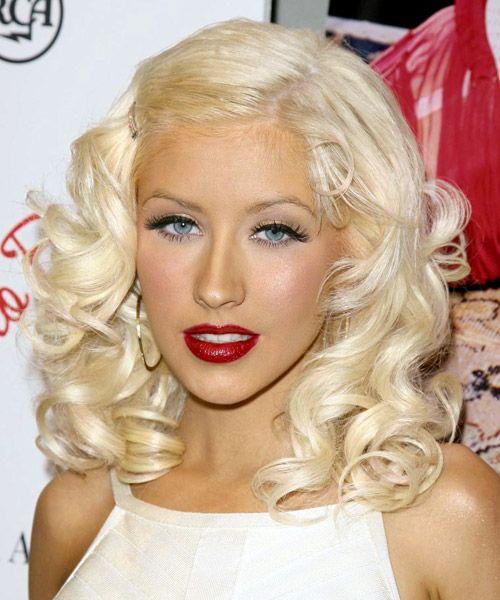 Christina Aguilera Hairstyle Medium Wavy Formal Christina Maria Aguilera Medium Hair Styles Beautiful Christina