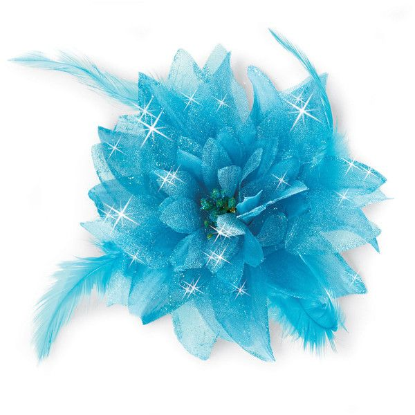 Feathered Flower Hair Clip; Balera ❤ liked on Polyvore