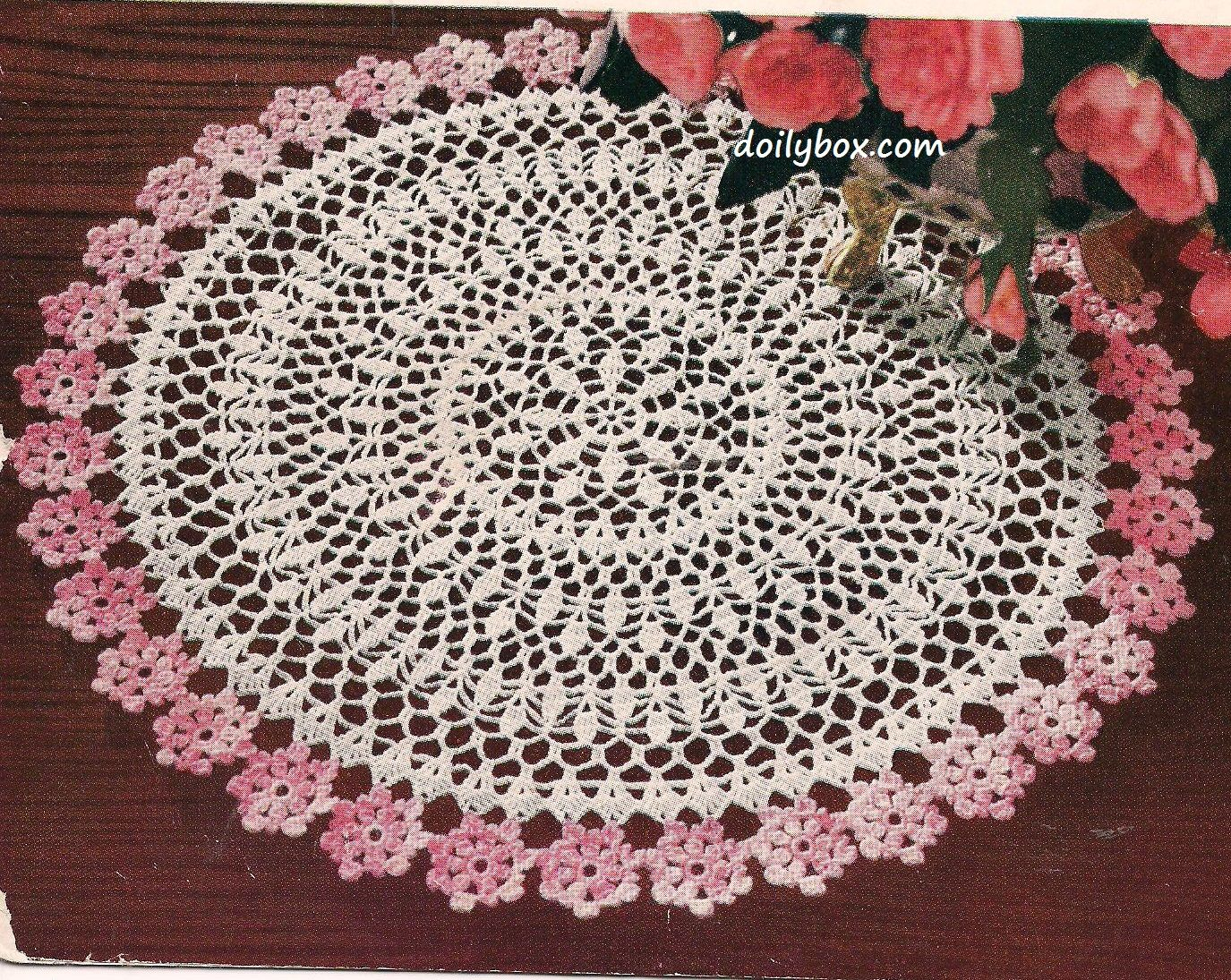 Free Vintage Crochet - Flower Doily Pattern | Vintage crochet ...