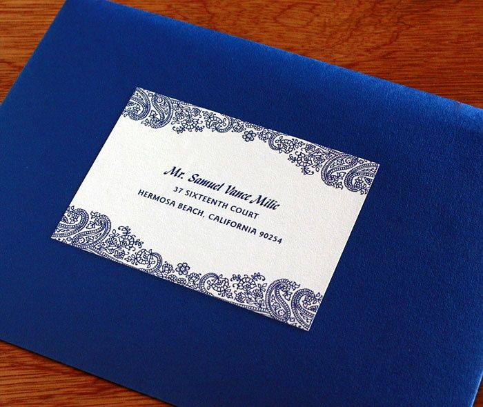 Royal Blue Envelopes Create A Unified And Dramatic Statement For Your Invitation Set Wedding Card Design Indian Wedding Cards Indian Wedding Cards