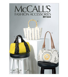 McCalls Accessories Sewing Pattern 6297 Totes /& Hand Bags McCalls-6297-OSZ