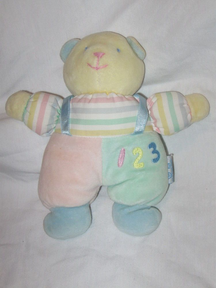 Bear Rattle Soft Dreams Pastel Plush Stuffed Animal Baby Toy Ducky Baby