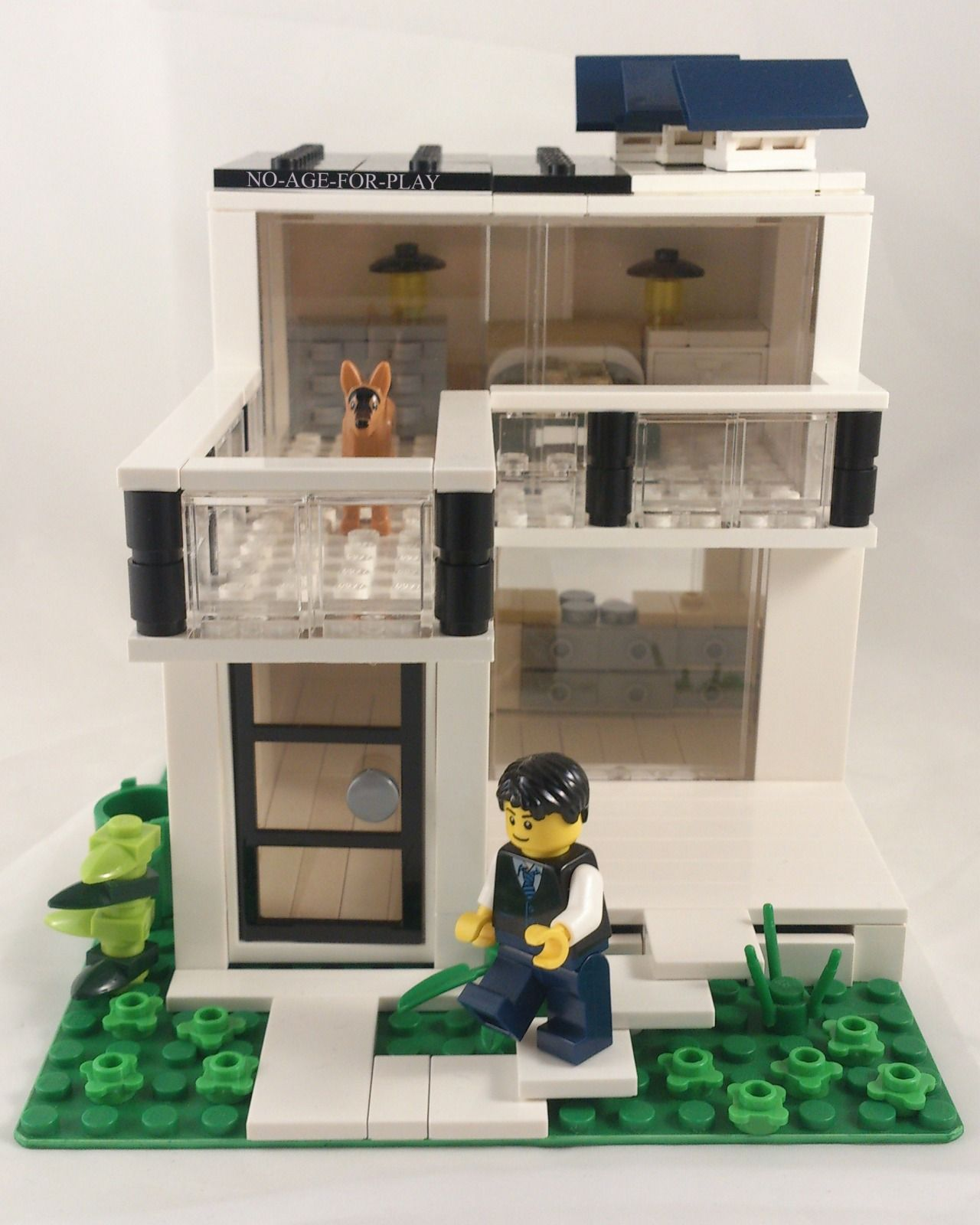 Moc Noageforplay Modern House Solar Energy Meubles De Lego Idees Lego Maison Lego