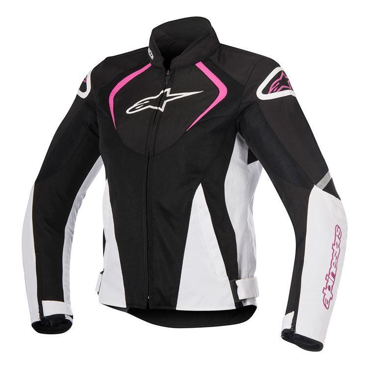 Black//White//Pink EU 38 ALPINESTARS Womens Stella JAWS Leather Jacket