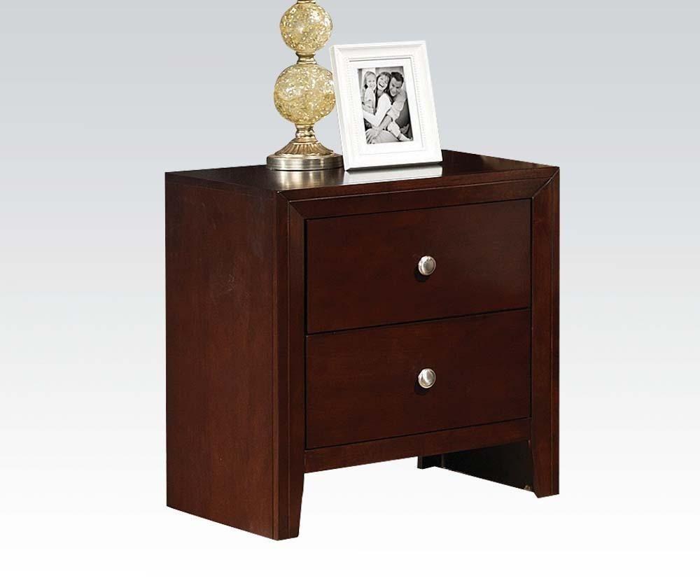 Best Ac20403 Ilana Brown Cherry 2 Drawer Night Stand Acme 400 x 300