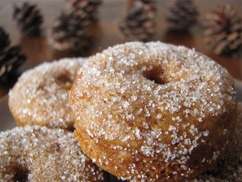 Baked Mini Sugared Gingerbread Doughnuts [and Doughnut Muffins]