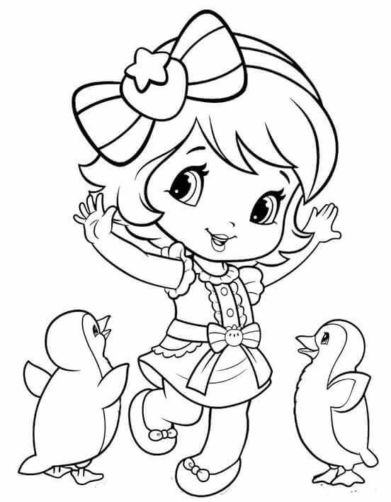Little Strawberry Cute Coloring Pages Coloring Pages