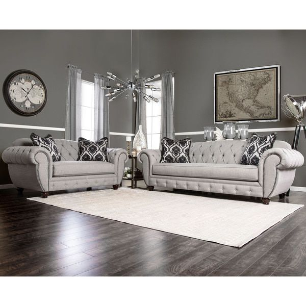 Furniture Of America Augusta Victorian Grey 2 Piece Sofa Set Reviews Deals Prices 17447730