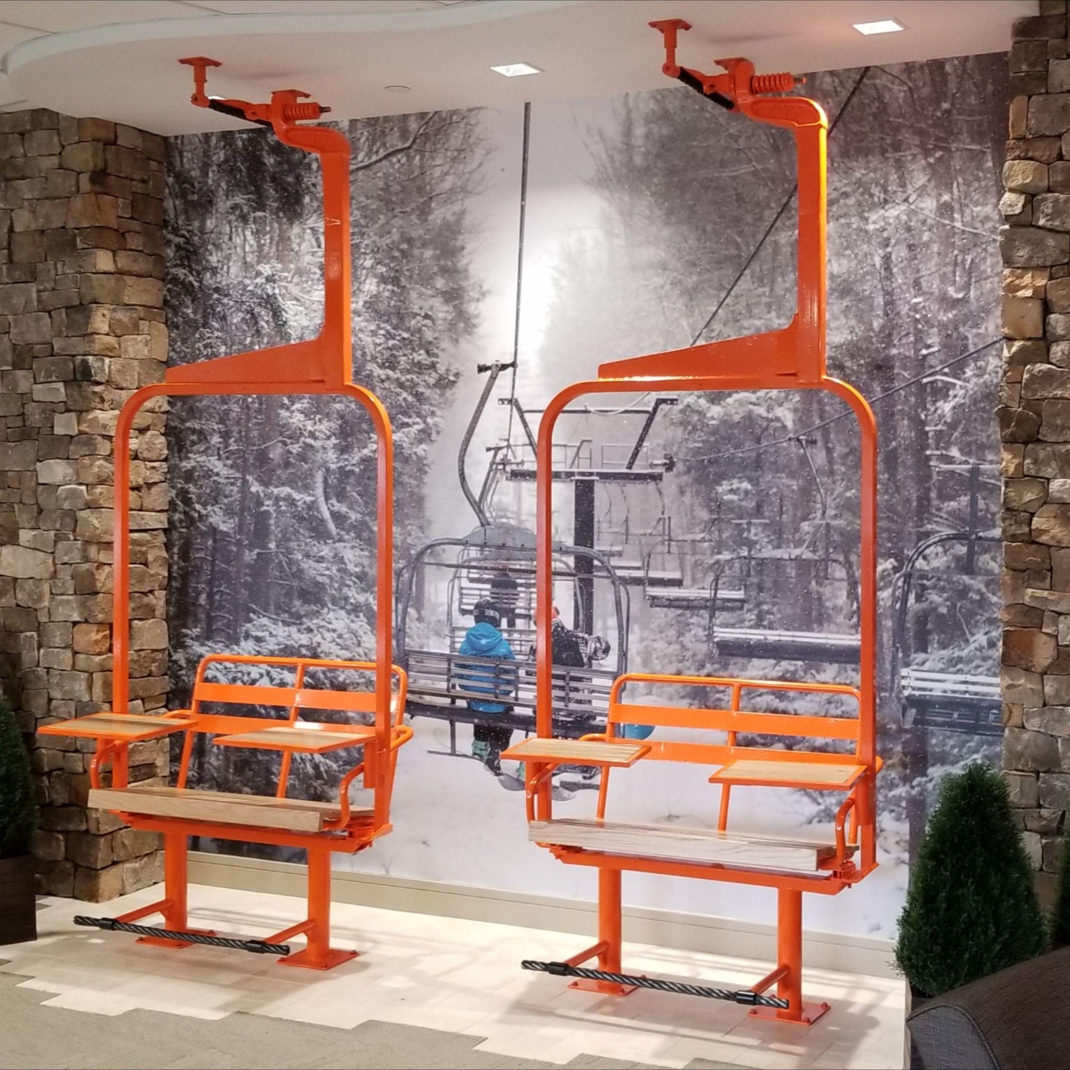 Ski Chairlift Co Working In 2020 Ski House Decor Ski Lift Chair Ski Lodge Decor