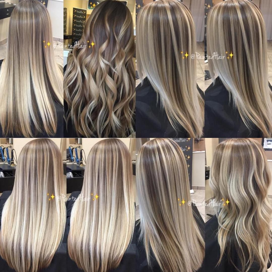 """Patricia Nikole/ Hairpainting on Instagram: """"️I love my multidimensional Painted Hairblondes��️�️. Which look is your favorite?️My clients are already naturally light haired…"""""""