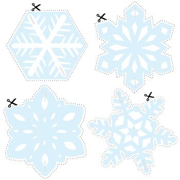 How To Make A Snowflake Hanging Decoration With Free Printable