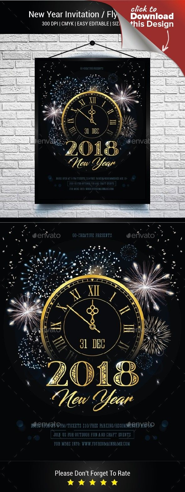 new year invitation flyer poster pinterest flyer template and template