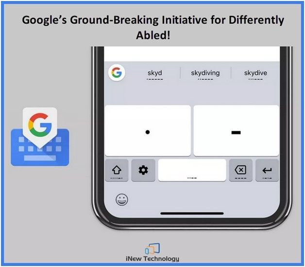 Gboard now would be Morse Code enabled for the people with