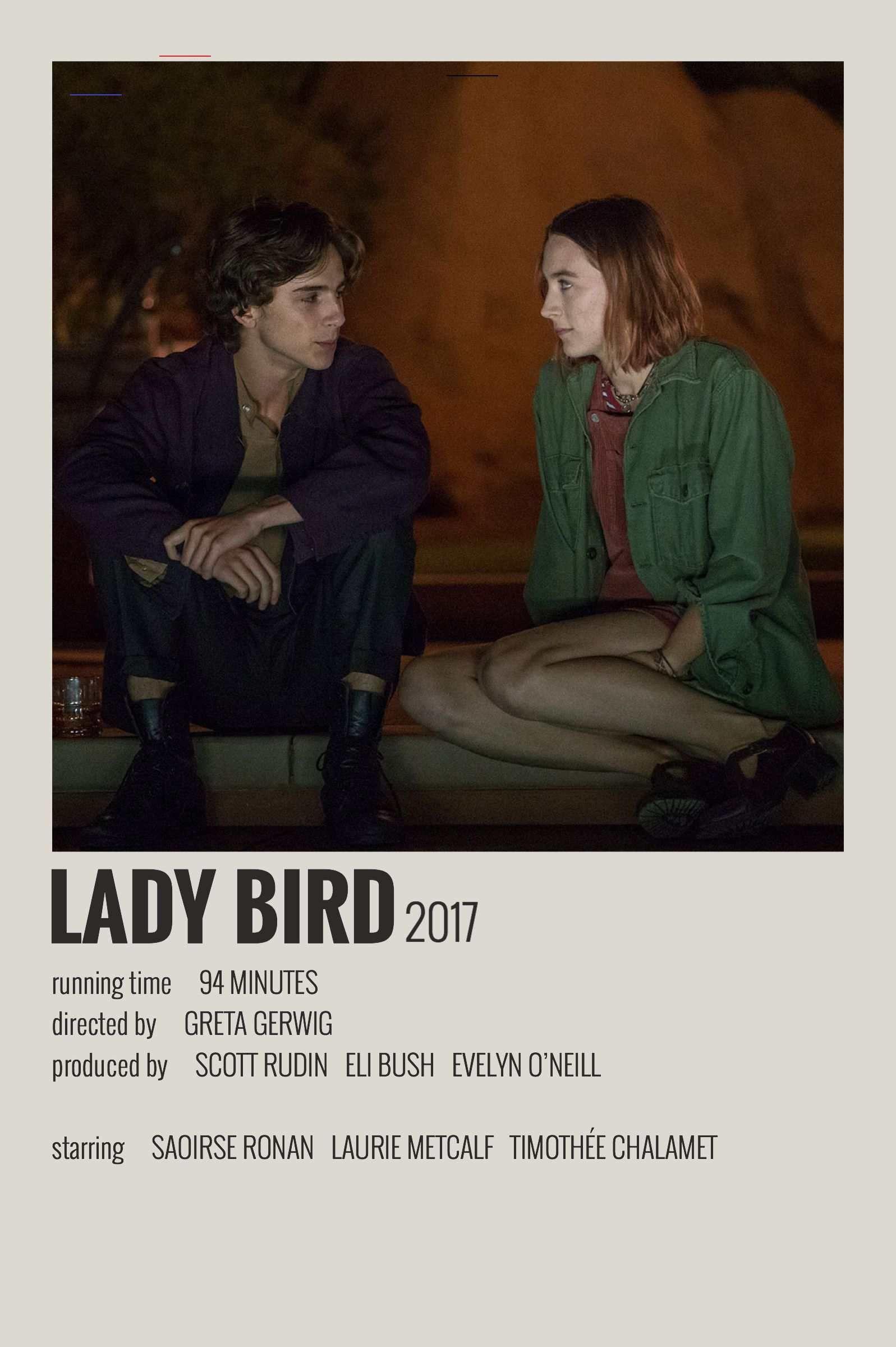 Alternative Minimalist Movie/Show Polaroid Poster – Lady Bird