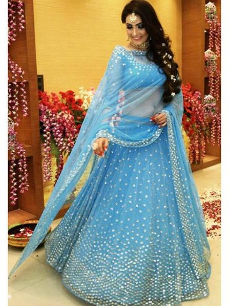 78dcea3a4cbdbf Sky Blue Lehenga Lehenga Wedding, Wedding Sherwani, Sky Blue Saree, Blue  Lehenga,